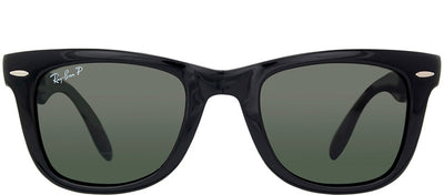 Ray-Ban RB 4105 601/58 Wayfarer Plastic Black Sunglasses with Green Polarized Lens
