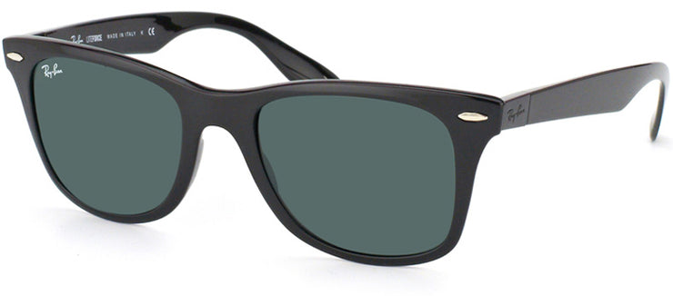 Ray-Ban Liteforce RB 4195 601/71 Wayfarer Plastic Black Sunglasses with Green Lens