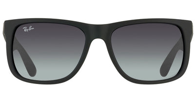 Ray-Ban Justin RB 4165 601/8G Square Rubber Black Sunglasses with Grey Gradient Lens
