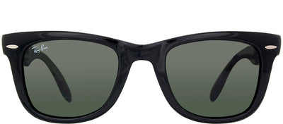 Ray-Ban RB 4105 601 Wayfarer Plastic Black Sunglasses with Green Lens
