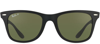 Ray-Ban Liteforce RB 4195 601S9A Wayfarer Plastic Black Sunglasses with Green Polarized Lens