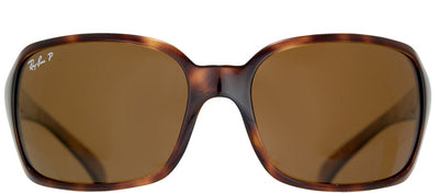 Ray-Ban RB 4068 642/57 Rectangle Plastic Tortoise/ Havana Sunglasses with Crystal Brown Polarized Lens