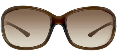 Tom Ford Jennifer TF 8 692 Fashion Plastic Brown Sunglasses with Brown Gradient Lens