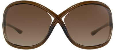 Tom Ford Whitney TF 9 692 Fashion Plastic Brown Sunglasses with Brown Gradient Lens