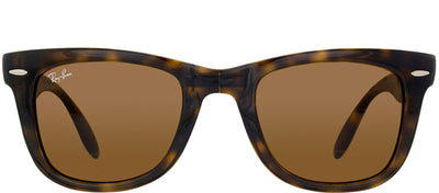 Ray-Ban RB 4105 710 Wayfarer Plastic Tortoise/ Havana Sunglasses with Green Lens