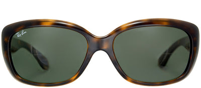 Ray-Ban RB 4101 710 Rectangle Plastic Tortoise/ Havana Sunglasses with Green Lens