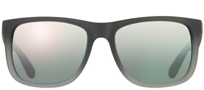 Ray-Ban Justin RB 4165 852/88 Square Rubber Grey Sunglasses with Grey Mirror Lens