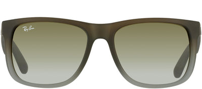 Ray-Ban Justin RB 4165 854/7Z Square Rubber Brown Sunglasses with Brown Gradient Lens