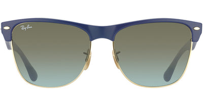 Ray-Ban RB 4175 880/96 Clubmaster Plastic Blue Sunglasses with Brown Gradient Lens