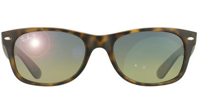 Ray-Ban RB 2132 894/76 Wayfarer Plastic Tortoise/ Havana Sunglasses with Green Gradient Polarized Lens
