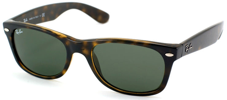 Ray-Ban RB 2132 902L Wayfarer Plastic Tortoise/ Havana Sunglasses with Green Lens