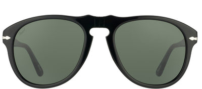 Persol Suprema PO 649 95/31 Aviator Plastic Black Sunglasses with Green Lens