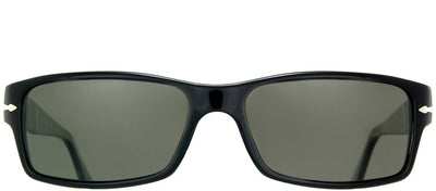 Persol PO 2747 95/48 Rectangle Plastic Black Sunglasses with Grey Polarized Lens
