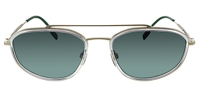 Burberry BE 3106 110971 Oval Metal Gold Sunglasses with Green Lens