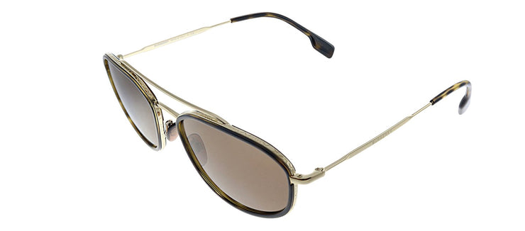Burberry BE 3106 110973 Oval Metal Havana Sunglasses with Brown Lens