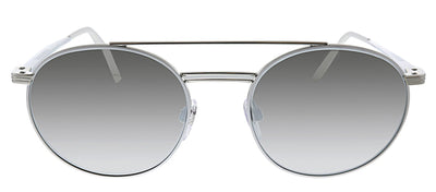 Burberry BE 3109 12946G Round Metal Silver Sunglasses with Silver Mirror Lens