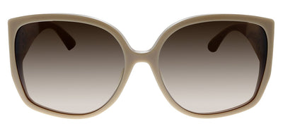 Burberry BE 4290F 380713 Square Plastic Beige Sunglasses with Brown Gradient Lens