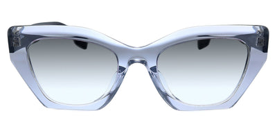 Burberry BE 4299F 38318E Butterfly Plastic Transparent Sunglasses with Silver Gradient Lens