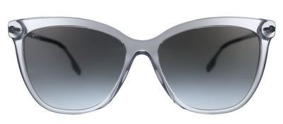 Burberry Clare BE 4308 38558G Square Plastic Grey Sunglasses with Grey Gradient Lens