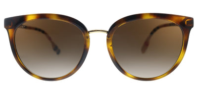 Burberry Willow BE 4316 389013 Round Plastic Havana Sunglasses with Brown Gradient Lens