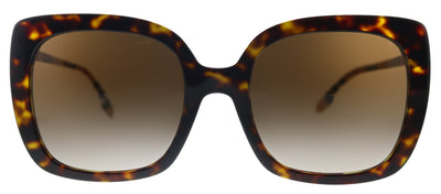 Burberry Caroll BE 4323 385413 Square Plastic Havana Sunglasses with Brown Gradient Lens