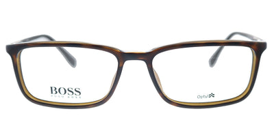 Hugo Boss BOSS 0963 086 Rectangle Plastic Havana Eyeglasses with Demo Lens