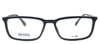 Hugo Boss BOSS 0963 807 Rectangle Plastic Black Eyeglasses with Demo Lens