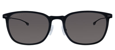 Hugo Boss BOSS 0974/S 807 Square Plastic Black Sunglasses with Grey Lens