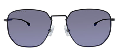 Hugo Boss BOSS 0992/F/S 8HT Round Metal Grey Sunglasses with Blue Sky Mirror Lens