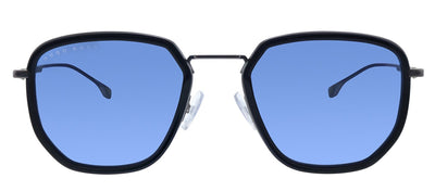 Hugo Boss BOSS 1029/F/S 807 Rectangle Metal Black Sunglasses with Blue Avio Lens