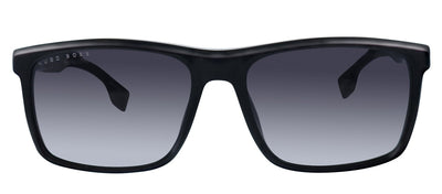 Hugo Boss BOSS 1036/S 807 Rectangle Plastic Black Sunglasses with Dark Grey Gradient Lens