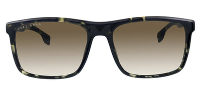 Hugo Boss BOSS 1036/S WR7 Rectangle Plastic Black Sunglasses with Brown Gradient Lens