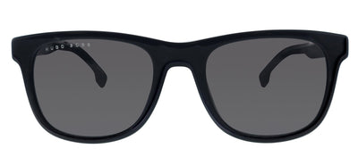 Hugo Boss BOSS 1039/S 807 Rectangle Plastic Black Sunglasses with Grey Blue Lens