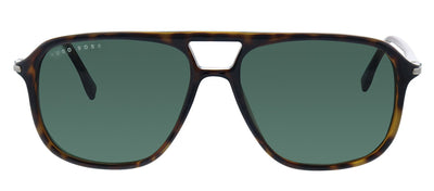 Hugo Boss BOSS 1042/S 086 Aviator Plastic Havana Sunglasses with Green Lens