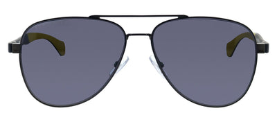 Hugo Boss BOSS 1077/S SVK Aviator Metal Black Sunglasses with Grey Cp Pz Lens