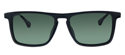 Hugo Boss BOSS 1082/S 807 Rectangle Plastic Black Sunglasses with Green Lens
