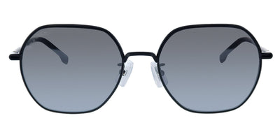 Hugo Boss BOSS 1107/F/S 807 Rectangle Metal Black Sunglasses with Silver Mirror Lens