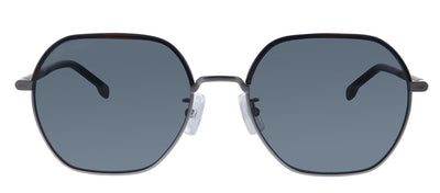 Hugo Boss BOSS 1107/F/S R81 Rectangle Metal Ruthenium Sunglasses with Grey Blue Lens