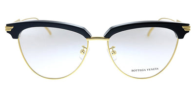 Bottega Veneta BV 1010O 001 Cat-Eye Plastic Black Eyeglasses with Demo Lens