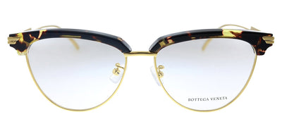 Bottega Veneta BV 1010O 002 Cat-Eye Plastic Havana Eyeglasses with Demo Lens