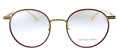 Bottega Veneta BV 1017O 004 Round Metal Red Eyeglasses with Demo Lens