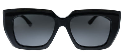 Bottega Veneta BV 1030S 001 Geometric Plastic Black Sunglasses with Grey Lens