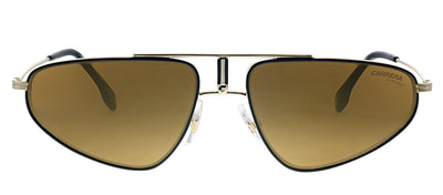 Carrera CA Carrera1021 J5G K1 Aviator Metal Gold Sunglasses with Brown Mirror Lens