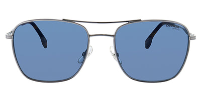 Carrera CA Carrera130 6LB Rectangle Metal Ruthenium Sunglasses with Blue Lens