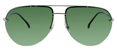 Carrera CA Carrera149 6LB Aviator Metal Ruthenium Sunglasses with Green Lens