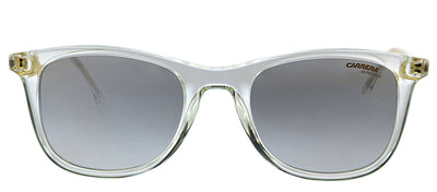 Carrera CA Carrera197 900 Rectangle Plastic Crystal Sunglasses with Silver Mirror Lens