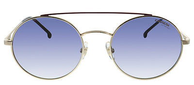 Carrera CA Carrera2004T J5G Oval Metal Gold Sunglasses with Blue Mirror Lens