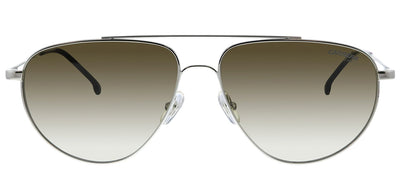 Carrera CA Carrera2014TS 010 HA Pilot Metal Silver Sunglasses with Brown Gradient Lens