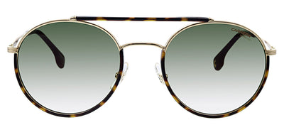 Carrera CA Carrera208 AU2 Oval Metal Havana Sunglasses with Green Gradient Lens