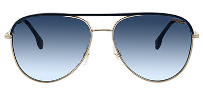 Carrera CA Carrera209 LKS Aviator Metal Gold Sunglasses with Blue Gradient Lens